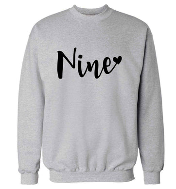 Nine and heart adult's unisex grey sweater 2XL