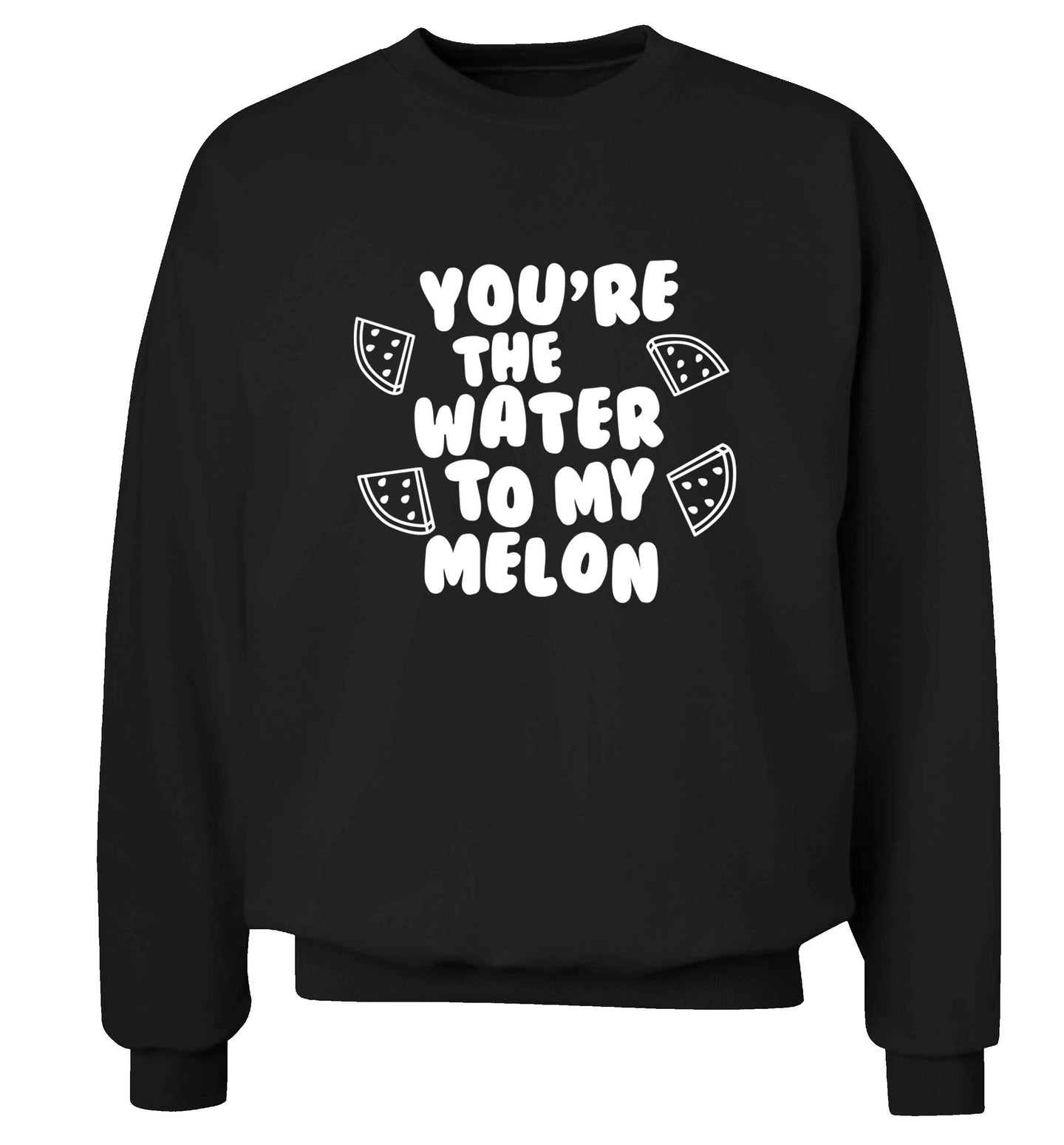 You're the water to my melon adult's unisex black sweater 2XL