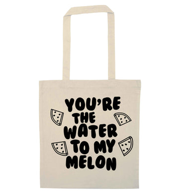You're the water to my melon natural tote bag