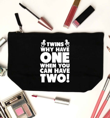 Twins why have one when you can have two black makeup bag