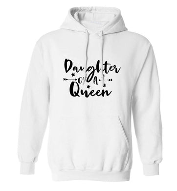 Daughter of a Queen adults unisex white hoodie 2XL