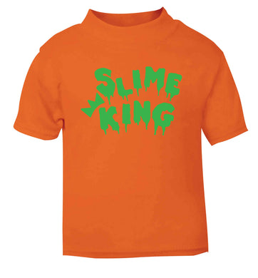 Neon green slime king orange baby toddler Tshirt 2 Years
