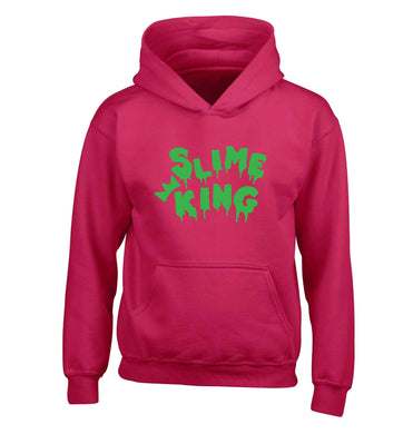 Neon green slime king children's pink hoodie 12-13 Years