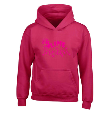 Neon pink slime princess children's pink hoodie 12-13 Years