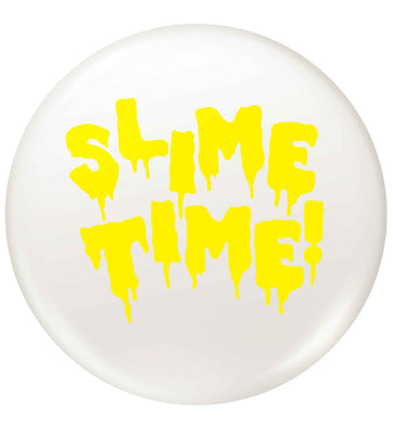 yellow slime time small 25mm Pin badge