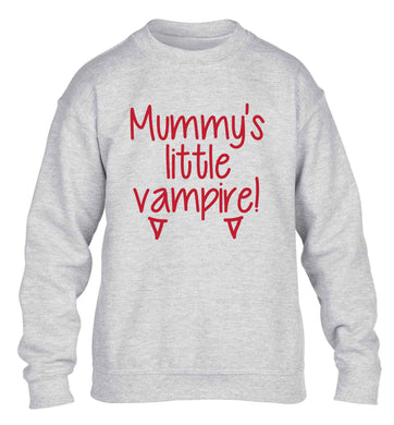 Mummy's little vampire children's grey sweater 12-13 Years