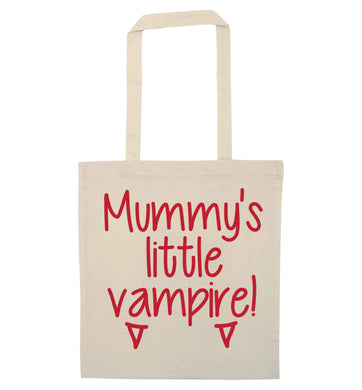 Mummy's little vampire natural tote bag