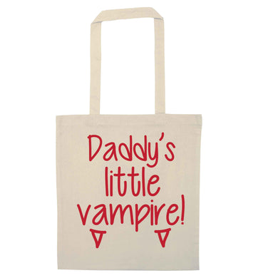Daddy's little vampire natural tote bag