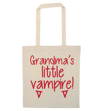 Grandma's little vampire natural tote bag
