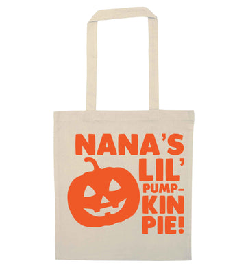 Nana's lil' pumpkin pie natural tote bag