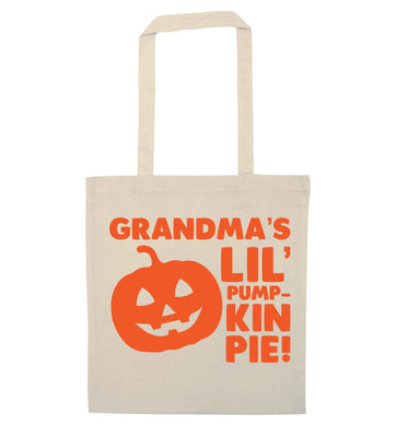Grandma's lil' pumpkin pie natural tote bag