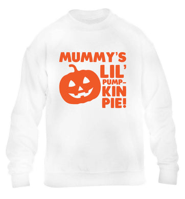 Mummy's lil' pumpkin pie children's white sweater 12-13 Years