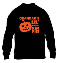 Daddy's lil' pumpkin pie children's black sweater 12-13 Years