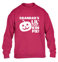 Daddy's lil' pumpkin pie children's pink sweater 12-13 Years