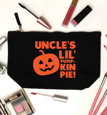 Uncle's lil' pumpkin pie black makeup bag