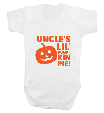 Uncle's lil' pumpkin pie baby vest white 18-24 months