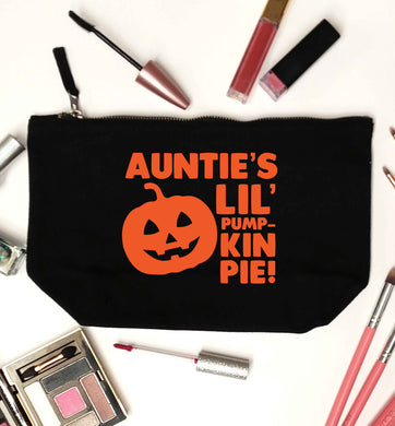 Auntie's lil' pumpkin pie black makeup bag