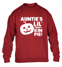 Auntie's lil' pumpkin pie children's grey sweater 12-13 Years