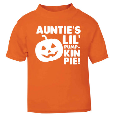 Auntie's lil' pumpkin pie orange baby toddler Tshirt 2 Years