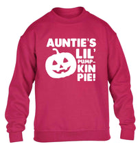 Auntie's lil' pumpkin pie children's pink sweater 12-13 Years