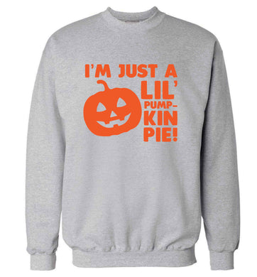I'm just a lil' pumpkin pie adult's unisex grey sweater 2XL