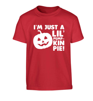 I'm just a lil' pumpkin pie Children's red Tshirt 12-13 Years