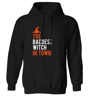 Badest witch in town adults unisex black hoodie 2XL