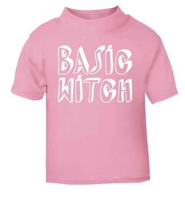 Basic witch light pink baby toddler Tshirt 2 Years