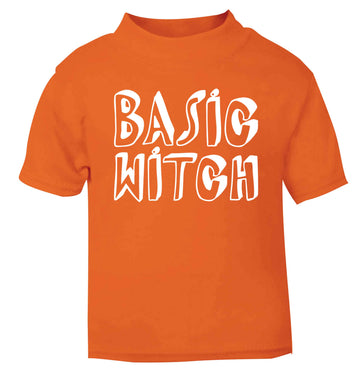 Basic witch orange baby toddler Tshirt 2 Years