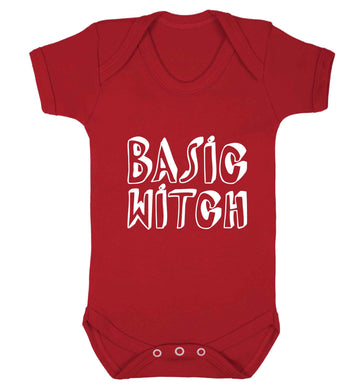 Basic witch baby vest red 18-24 months