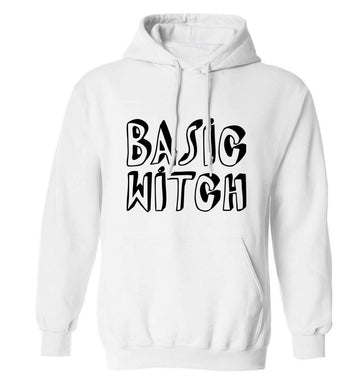 Basic witch adults unisex white hoodie 2XL