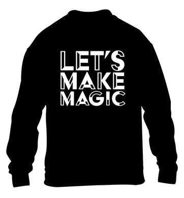 Let's make magic children's black sweater 12-13 Years