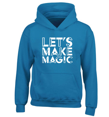 Let's make magic children's blue hoodie 12-13 Years