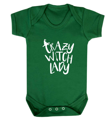 Crazy witch lady baby vest green 18-24 months