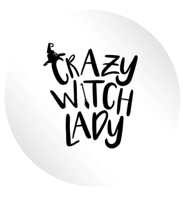 Crazy witch lady 24 @ 45mm matt circle stickers