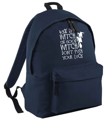 49% bad witch 51% good witch don't push your luck | Children's backpack