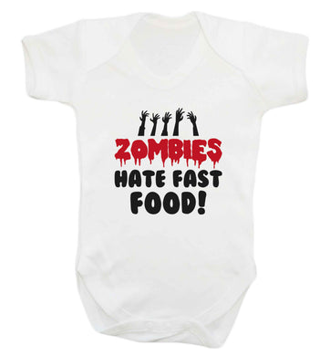 Zombies hate fast food baby vest white 18-24 months
