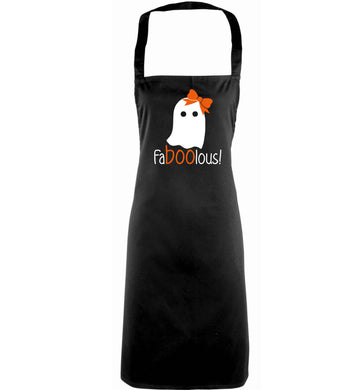Faboolous ghost adults black apron