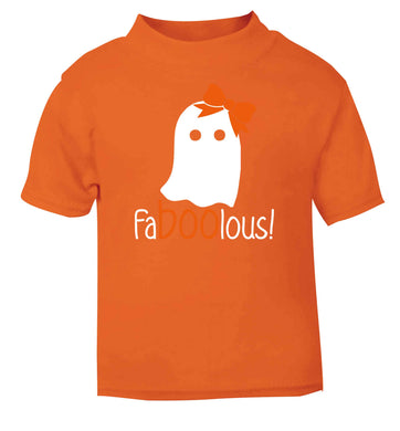 Faboolous ghost orange baby toddler Tshirt 2 Years
