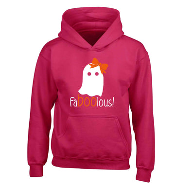 Faboolous ghost children's pink hoodie 12-13 Years