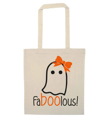 Faboolous ghost natural tote bag