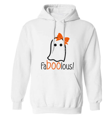 Faboolous ghost adults unisex white hoodie 2XL