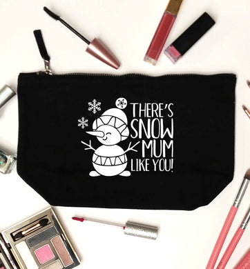 There's snow mum like you black makeup bag