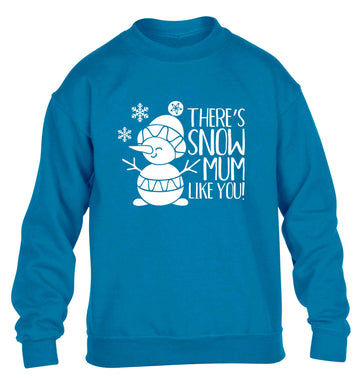 There's snow mum like you children's blue sweater 12-13 Years
