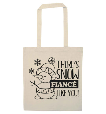 There's snow fiance like you natural tote bag