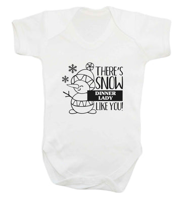 There's snow dinner lady like you baby vest white 18-24 months