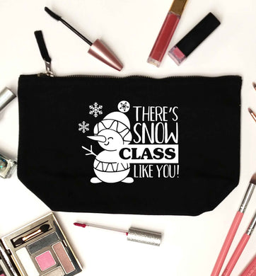 There's snow class like you black makeup bag