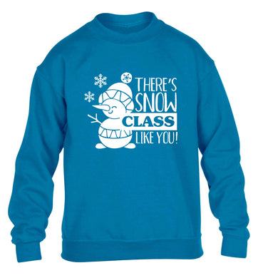 There's snow class like you children's blue sweater 12-13 Years