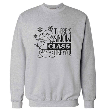 There's snow class like you adult's unisex grey sweater 2XL