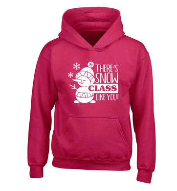 There's snow class like you children's pink hoodie 12-13 Years